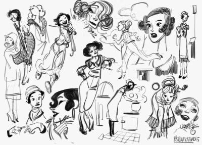 Bocetos de Borja Montoro para un proyecto personal que aun está en desarrollo.